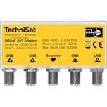 TechniSat DiSEqC 4x1 Schalter (4 Sat-Positionen für 1 Teilnehmer, Wetterschutzgehäuse für Mastmontage, Geringer Eigenstomverbrauch)