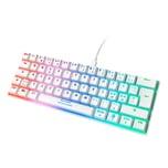 Deltaco Mechanische Mini Gaming Tastatur TKL 62 Tasten, LED RGB Hintergrundbeleuchtung, rote Schalter / Switches