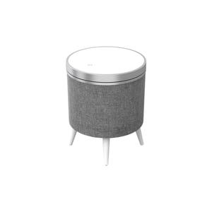 Block Stockholm Multimedia-Lautsprecher-Tisch mit Induktion-Ladefunktion weiß