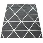 Paco Home Ethno Teppich Wohnzimmer Grau Anthrazit Rauten Muster Strapazierfähig Kurzflor