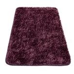 Paco Home Moderner Hochflor Badezimmer Teppich Einfarbig Badematte Rutschfest In Dunkellila