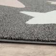 Paco Home Teppich Kinderzimmer Kinderteppich Große Und Kleine Sterne In Grau Rosa