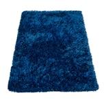 Paco Home Moderne Badematte Badezimmer Teppich Shaggy Kuschelig Weich Einfarbig Blau