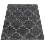 Paco Home Hochflor-Teppich, Weicher Shaggy Für Wohnzimmer Mit Orient Design, In Grau