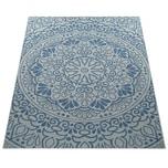 Paco Home In- & Outdoor-Teppich, Für Balkon Und Terrasse Mit Orient-Muster, In Blau