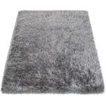 Paco Home Moderner Wohnzimmer Shaggy Hochflor Teppich Soft Garn In Uni Hellgrau Grau