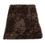 Paco Home Moderne Badematte Badezimmer Teppich Shaggy Kuschelig Weich Einfarbig Braun