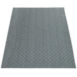 Paco Home Teppich Wohnzimmer Esszimmer Küche Flecht Web Muster Modern Grau