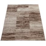 Paco Home Designer Teppich Modern Wohnzimmer Teppiche Kurzflor Karo Meliert Braun Beige