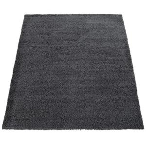 Paco Home Hochflor-Teppich, Shaggy-Teppich, Moderner Wohnzimmer-Teppich In Grau Anthrazit