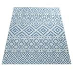 Paco Home In- & Outdoor-Teppich, Für Balkon Und Terrasse Mit Skandi-Muster, In Blau