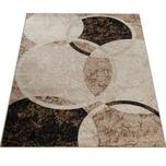 Paco Home Designer Teppich Wohnzimmer Teppich Kreis Muster in Braun Beige Preishammer