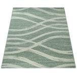 Paco Home Designer Teppich Kurzflor Wellen Muster Pastelltöne Modern In Grün Creme