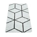 Paco Home Badematte Mit Rauten-Muster, Kurzflor-Teppich Für Badezimmer In Anthrazit Weiß