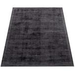 Paco Home Teppich Handgefertigt Hochwertig 100 % Viskose Vintage Optisch Meliert Anthrazit