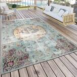 Paco Home In- & Outdoor Teppich Modern Orient Print Terrassen Teppich Türkis