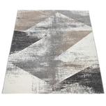 Paco Home Teppich Wohnzimmer Kurzflor Vintage Design Abstraktes Muster Pastell Grau Beige