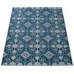Paco Home In- & Outdoor-Teppich, Mit Orient-Design, Für Balkon Und Terrasse, In Blau