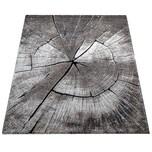 Paco Home Edler Designer Teppich Wohnzimmer Holzstamm Baum Optik Natur Grau Braun Beige