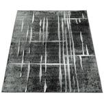 Paco Home Designer Teppich Modern Trendiger Kurzflor Teppich in Grau Schwarz Creme Meliert