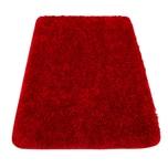 Paco Home Moderner Hochflor Badezimmer Teppich Einfarbig Badematte Rutschfest In Rot