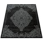 Paco Home Morderner Kurzflor Wohnzimmer Teppich Ornamente Orient Muster In Grau Anthrazit