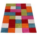 Paco Home Kinder Teppich Karo Design Multicolour Grün Rot Grau Schwarz Creme Pink