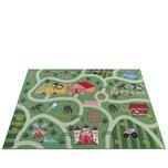 Paco Home Kinder-Teppich Für Kinderzimmer, Spiel-Teppich Mit Landschaft und Pferden, In Grün