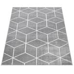 Paco Home Wohnzimmer-Teppich, Kurzflor Im Skandi-Stil Mit Rauten-Muster, In Grau