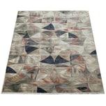 Paco Home Kurzflor Wohnzimmer Teppich Mustermix Abstraktes Design Modern Orient Bunt