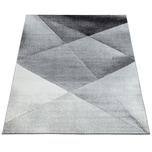 Paco Home Designer Teppich Modern Geometrische Muster Kurzflor Grau Schwarz Weiß Meliert