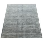 Paco Home Teppich Handgefertigt Hochwertig 100 % Viskose Vintage Optisch Meliert In Grau