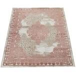 Paco Home Wohnzimmer-Teppich, Kurzflor-Teppich Mit Orient-Muster, 3D-Look In Rosa