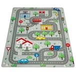 Paco Home Kinderteppich Teppich Kinderzimmer Spielmatte Spielteppich Straßenteppich Grau