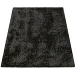 Paco Home Hochflor Wohnzimmer Teppich Waschbar Shaggy Flokati Optik Einfarbig In Schwarz