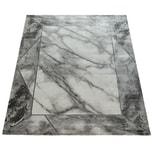 Paco Home Teppich Marmor Optik Bordüre silber