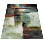 Paco Home Designer Teppich Modern Kurzflor Wohnzimmer Bunt Trendig Meliert Multicolour