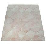 Paco Home Kurzflor Teppich Wohnzimmer Rosa Pastellfarben Orient Marokkanisches Muster