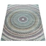 Paco Home Retro Teppich Bunt Wohnzimmer Pastellfarben Kreis Design Punkte 3-D Muster