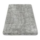 Paco Home Moderner Badezimmer Teppich Einfarbig Microfaser Kuschelig Gemütlich In Grau