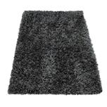 Paco Home Moderne Badematte Badezimmer Teppich Shaggy Kuschelig Weich Einfarbig Grau