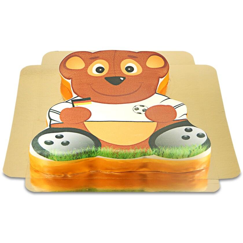 Fußball Teddy-Torte Schokoladenkuchen mit Schokoladenbuttercremefüllung 30 Portionen