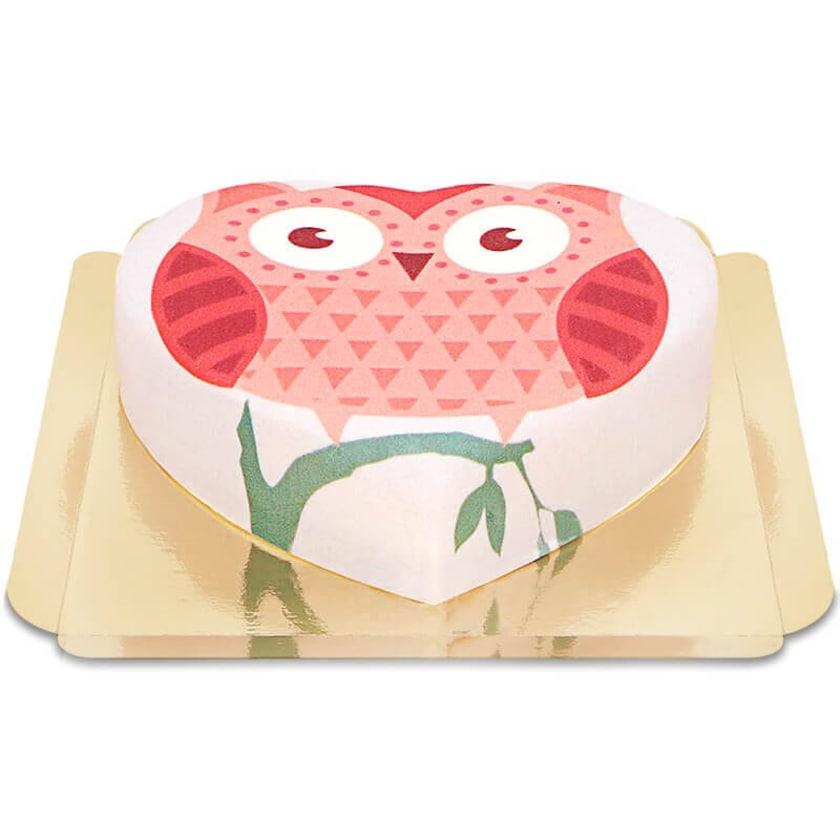 Eulen-Torte Schokoladenkuchen mit Schokoladenbuttercremefüllung 10 Portionen