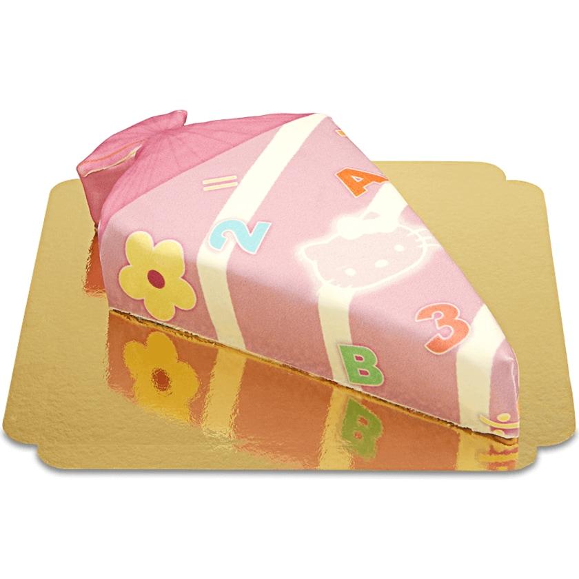 Schultüten-Torte mit Katze in Pink Schokoladenkuchen mit Schokoladenbuttercremefüllung 8 Portionen