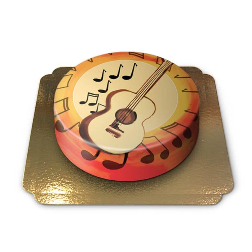Gitarren-Torte Schokoladenkuchen mit Schokoladenbuttercremefüllung 6 Portionen