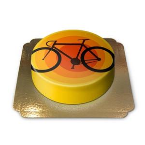 Fahrrad-Torte Schokoladenkuchen mit Schokoladenbuttercremefüllung 6 Portionen
