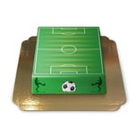 Fußballfeld-Torte Schokoladenkuchen mit Schokoladenbuttercremefüllung 10 Portionen