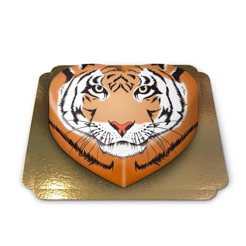 Tiger-Torte Schokoladenkuchen mit Schokoladenbuttercremefüllung 6 Portionen
