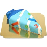 Schultüten-Torte mit Stiften in Hellblau Schokoladenkuchen mit Schokoladenbuttercremefüllung 8 Portionen
