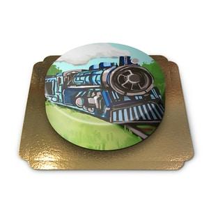 Eisenbahn-Torte Schokoladenkuchen mit Schokoladenbuttercremefüllung 6 Portionen